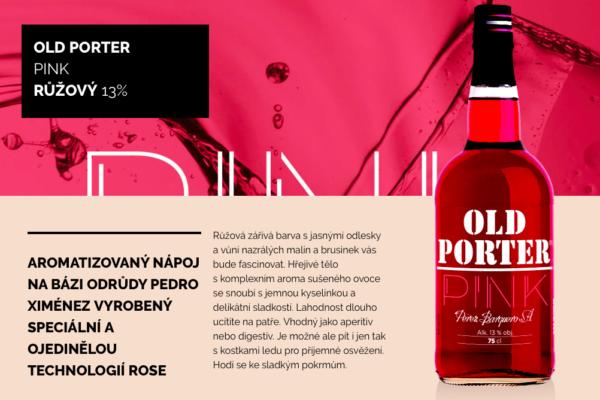Víno Old Porter Pink na oslavu