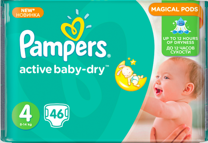 Nové plenky Pampers Active Baby-Dry