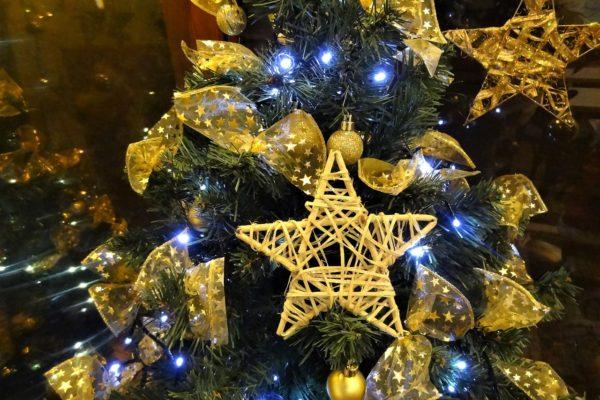 Správná žena ví, jak udělat radost u vánočního stromečku